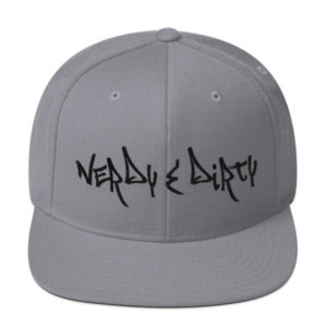 Nerdy & Dirty R&M Snapback – Black Lettering